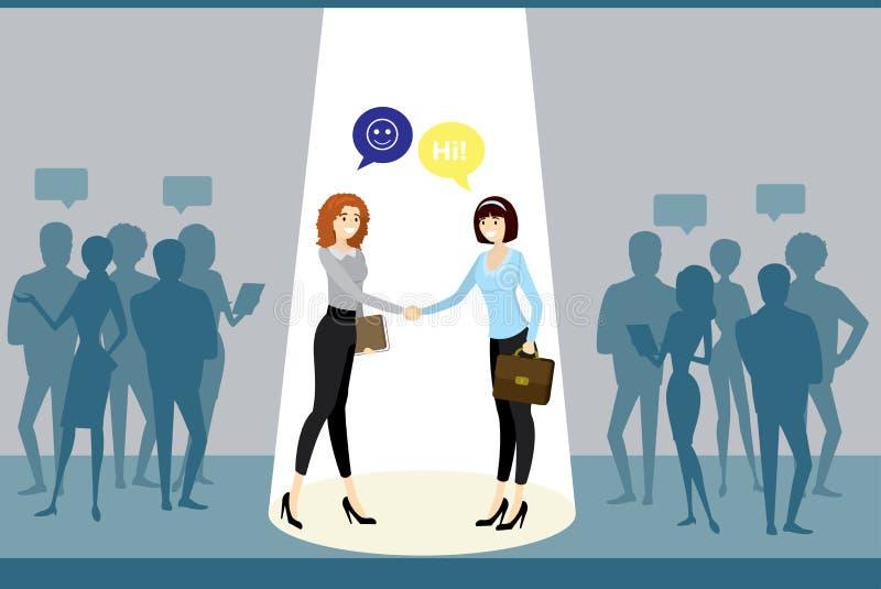 Διαπραγματεύσεις μεταξύ των επιχειρηματικών μονάδων, επιτυχής εργασία, ελεύθερη απεικόνιση δικαιώματος