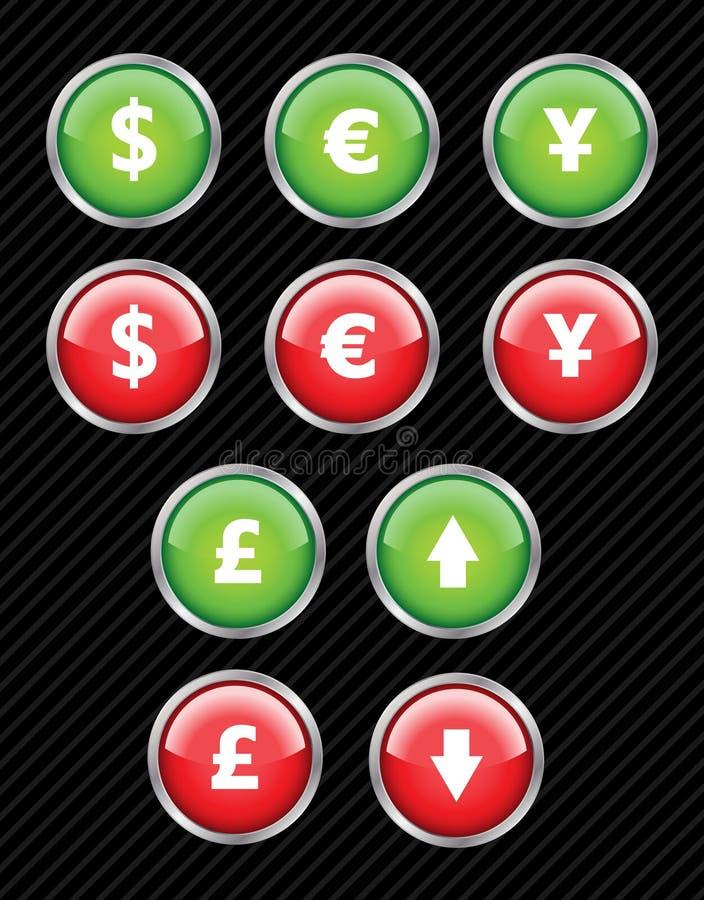 διαπροσωπεία εικονιδίων νομίσματος ελεύθερη απεικόνιση δικαιώματος