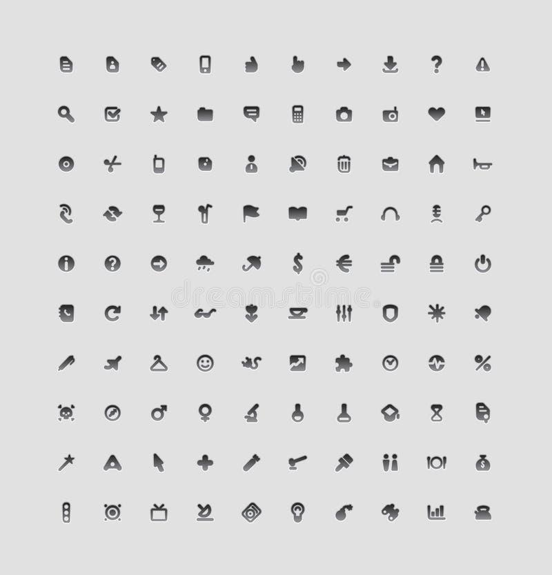 διαπροσωπεία 100 κουμπιών διανυσματική απεικόνιση