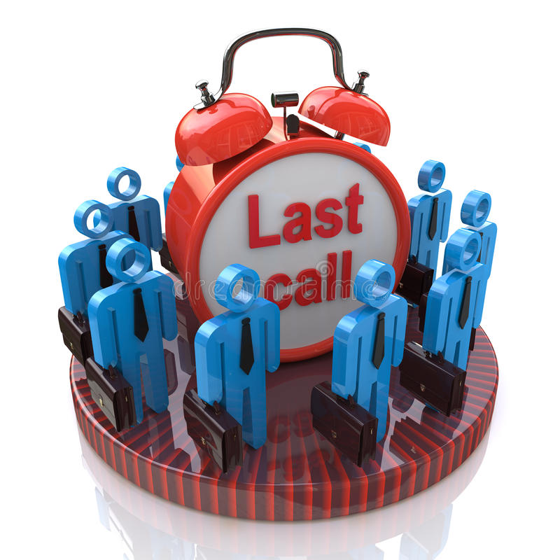 Διαρκέστε την κλήση στην επιχείρηση διανυσματική απεικόνιση