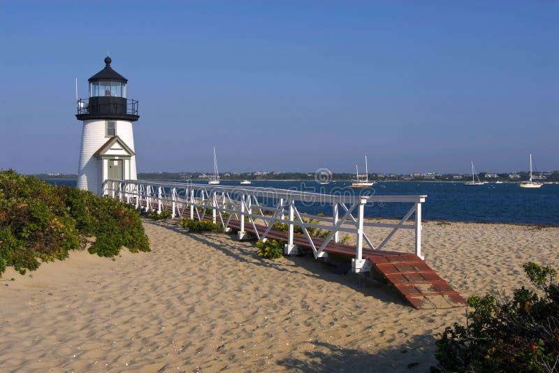 Διασημότερος φάρος νησιών Nantucket στοκ εικόνες