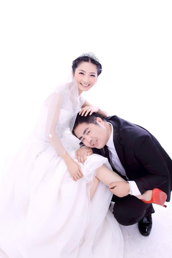 Διασκέδαση γαμήλιων ζευγών στοκ φωτογραφία με δικαίωμα ελεύθερης χρήσης