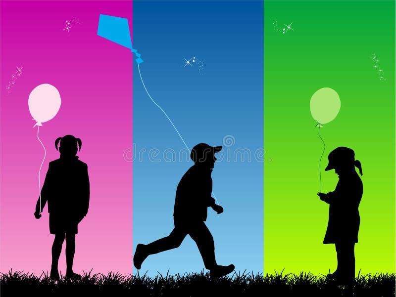 διασκέδαση παιδιών απεικόνιση αποθεμάτων