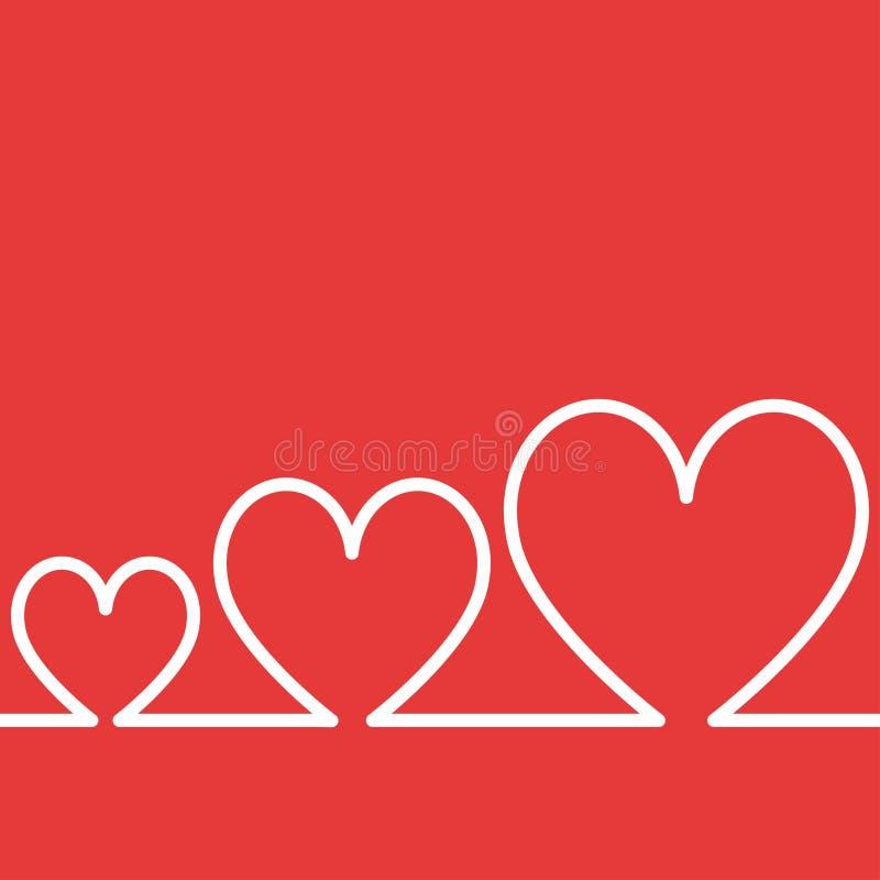 Διασκέδαση Valentine' υπόβαθρο τρία ημέρας του s καρδιά ελεύθερη απεικόνιση δικαιώματος
