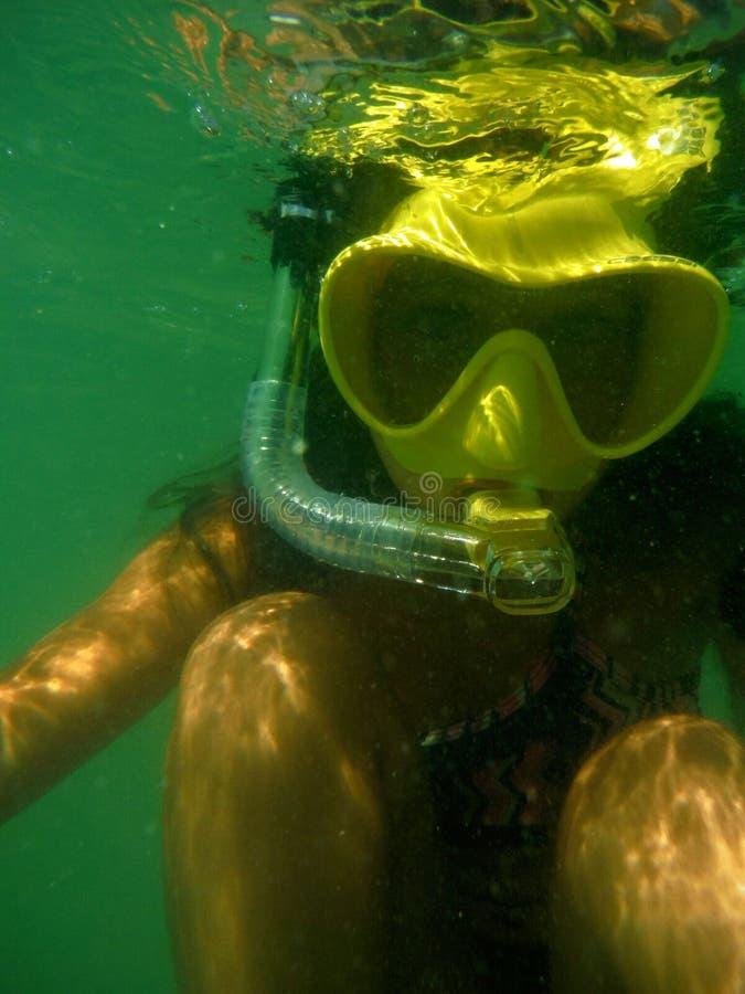 Διασκέδαση κολύμβησης με αναπνευστήρα στοκ φωτογραφία με δικαίωμα ελεύθερης χρήσης