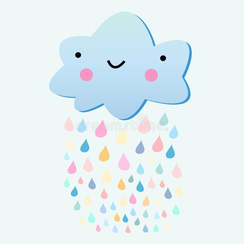 Διασκέδαση με ένα σύννεφο βροχής απεικόνιση αποθεμάτων