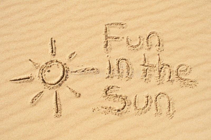 Διασκέδαση στο υποβρύχιο στην άμμο στοκ φωτογραφία με δικαίωμα ελεύθερης χρήσης