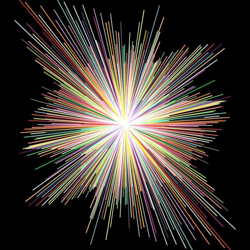 Διασκορπίστε το λωρίδα χρώματος, αφηρημένο υπόβαθρο διανυσματική απεικόνιση