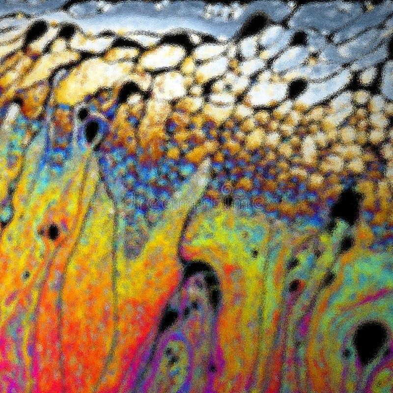 Διασκορπισμένο υπόβαθρο επιφάνειας φυσαλίδων στοκ εικόνες με δικαίωμα ελεύθερης χρήσης