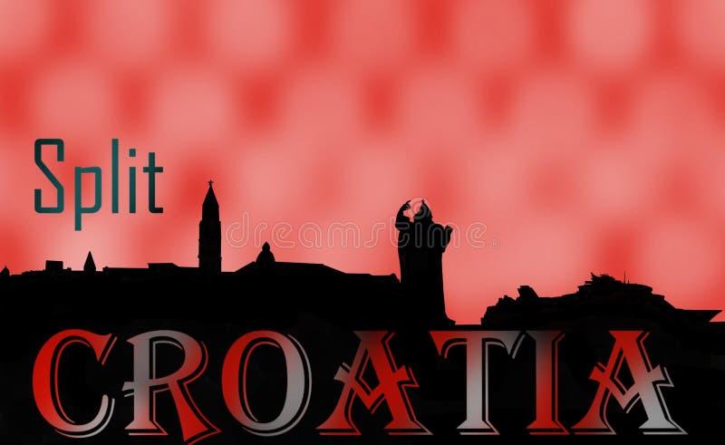 Διασπασμένες μνήμες της Κροατίας διανυσματική απεικόνιση