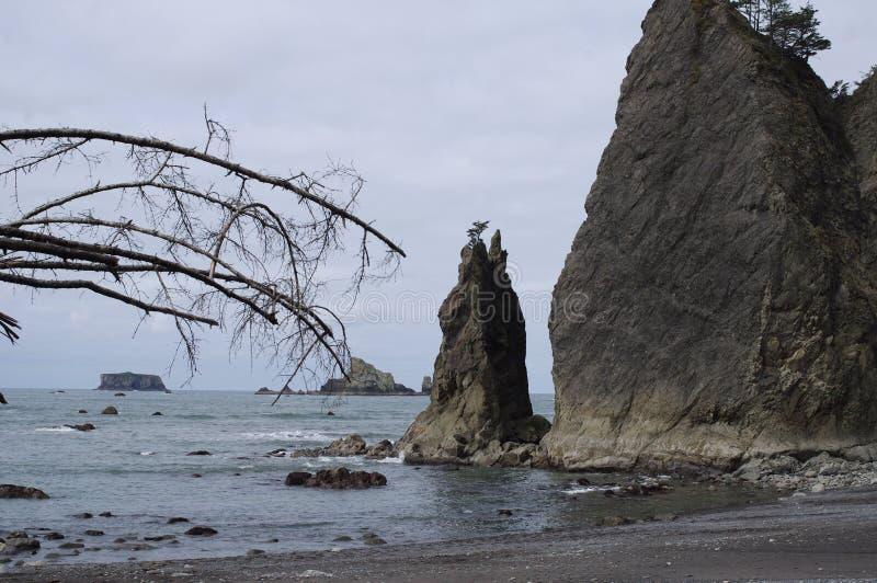 Διασπασμένος βράχος στην παραλία Rialto στοκ φωτογραφίες με δικαίωμα ελεύθερης χρήσης