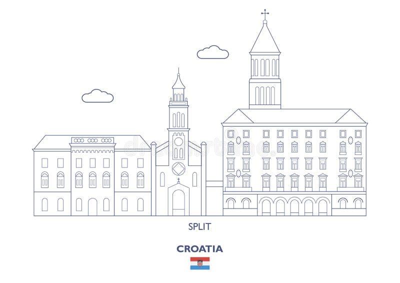 Διασπασμένος ορίζοντας πόλεων, Κροατία απεικόνιση αποθεμάτων