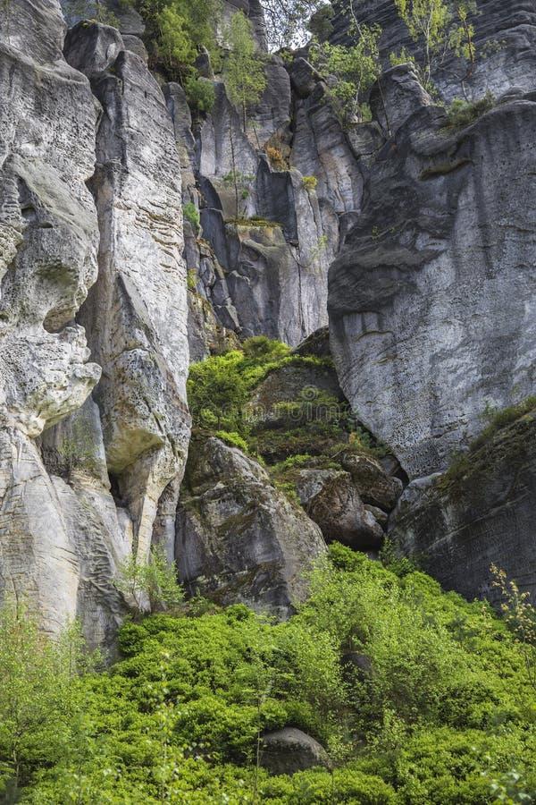 Διασπασμένος στο βράχο στοκ εικόνες