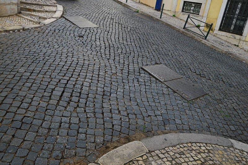 Διασταυρώσεις των οδών Ferragial, Serra Pinto και Vitor Cordon στο στοκ φωτογραφία
