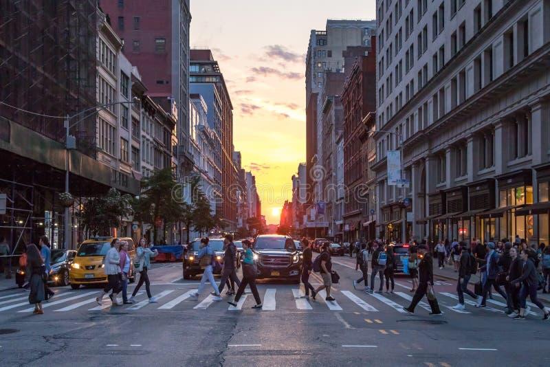 Διασταύρωση πόλεων της Νέας Υόρκης στη 23$η οδό στοκ εικόνες με δικαίωμα ελεύθερης χρήσης