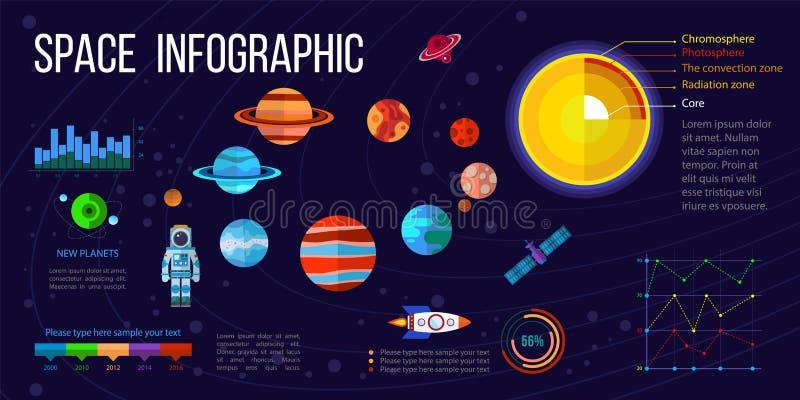 Διαστημικά infographic στοιχεία διανυσματική απεικόνιση