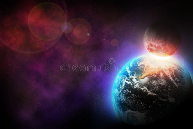 Διαστημική έκρηξη στοκ εικόνα