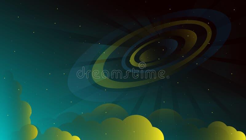 Διαστημική έναστρη γαλαξιών διανυσματική απεικόνιση νεφελώματος κόσμου όμορφη απεικόνιση αποθεμάτων
