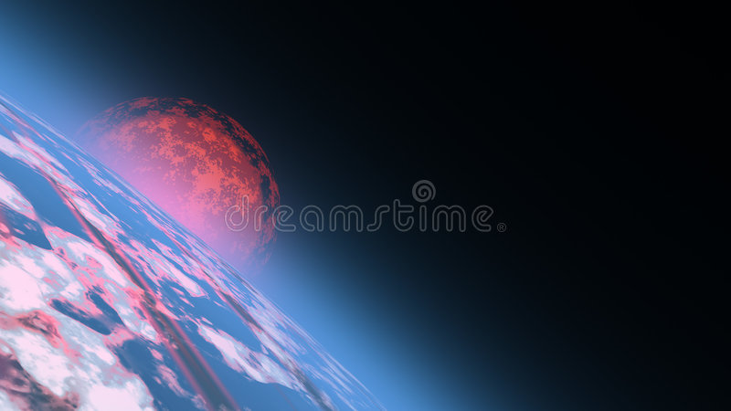 διαστημική ανατολή διανυσματική απεικόνιση