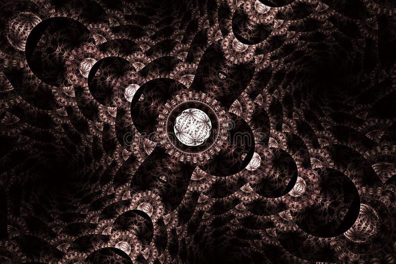 Διαστημική γεωμετρία Δυναμικές ρέοντας μορφές με τις σπείρες απεικόνιση αποθεμάτων