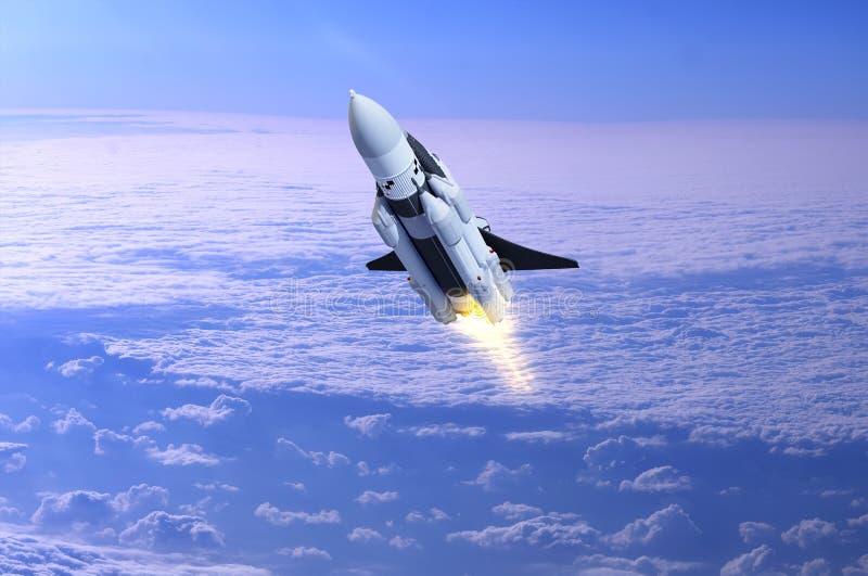 Διαστημική μεταφορά διανυσματική απεικόνιση