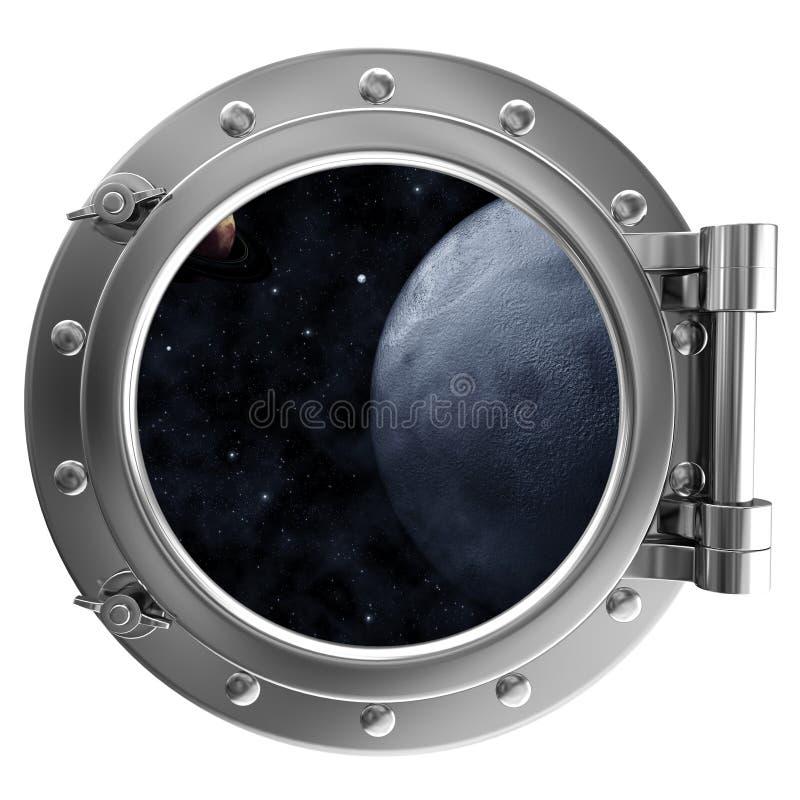 διαστημική όψη παραφωτίδων διανυσματική απεικόνιση