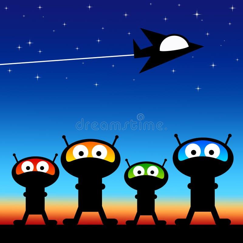 Διαστημικοί αλλοδαποί ελεύθερη απεικόνιση δικαιώματος