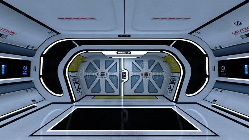 Διαστημικός θάλαμος ελέγχου σταθμών στοκ φωτογραφία με δικαίωμα ελεύθερης χρήσης