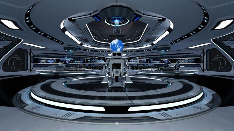 Διαστημικός θάλαμος ελέγχου σταθμών ελεύθερη απεικόνιση δικαιώματος
