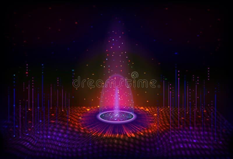 Διαστημικός μαγικός ένας μυθικός χαλά τον πλάνη στο υπόβαθρο του νυχτερινού ουρανού απεικόνιση αποθεμάτων