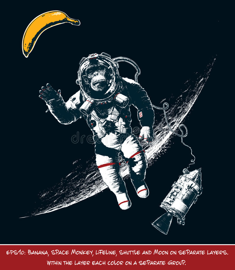 Διαστημικός πίθηκος απεικόνιση αποθεμάτων