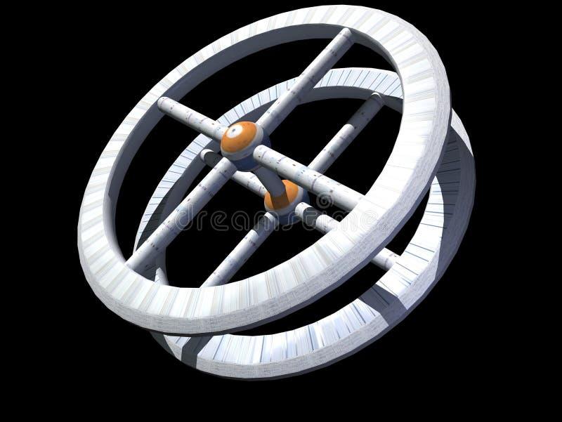 διαστημικός σταθμός διανυσματική απεικόνιση