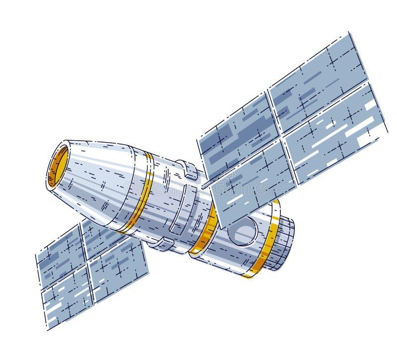 Διαστημικός σταθμός iss που επιπλέει στην έλλειψη βάρους στον ανοιχτό χώρο, τον τεχνητό δορυφόρο διαστημικών σκαφών, την επιστήμη απεικόνιση αποθεμάτων