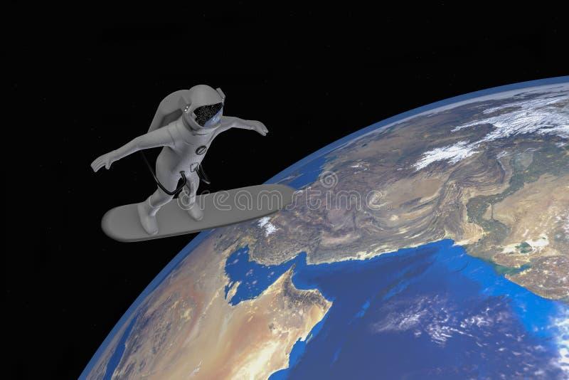 Διαστημικός τουρισμός διανυσματική απεικόνιση