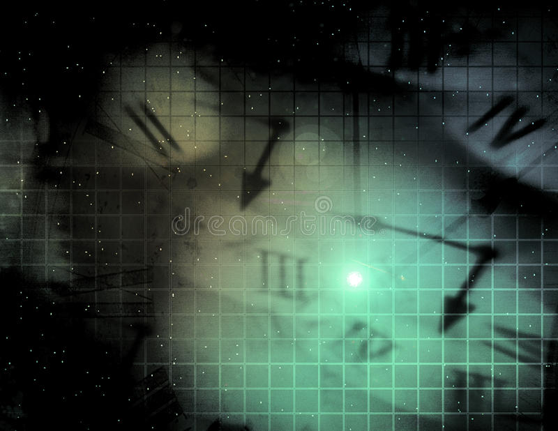 διαστημικός χρόνος διανυσματική απεικόνιση