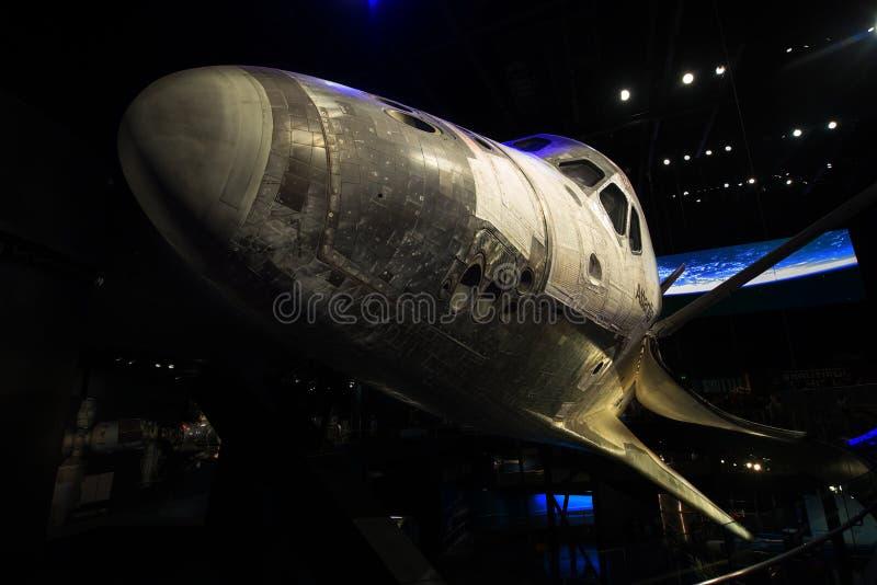 Διαστημικό Κέντρο Κένεντι της NASA Atlantis διαστημικών λεωφορείων στοκ εικόνες