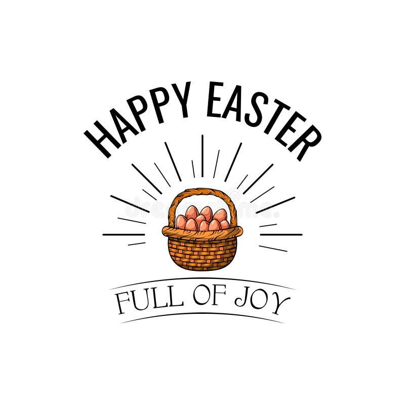διαστημικό κείμενο Πάσχας καλαθιών ανασκόπησης Αυγά Πάσχας χαιρετισμός καλή χρονιά καρτών του 2007 Σύνολο της επιγραφής χαράς διά απεικόνιση αποθεμάτων