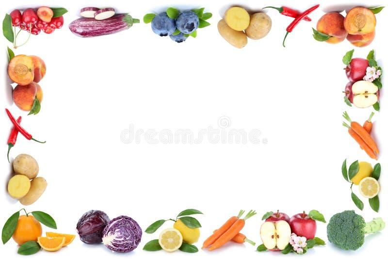 Διαστημικό μήλο πορτοκαλί CH αντιγράφων πλαισίων φρούτων και λαχανικών copyspace διανυσματική απεικόνιση