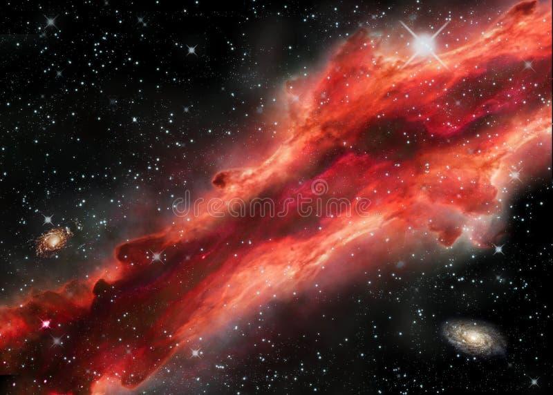 Διαστημικό νεφέλωμα ελεύθερη απεικόνιση δικαιώματος