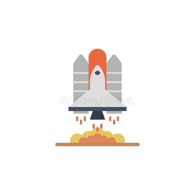 Διαστημικό σκάφος, χρωματισμένο πύραυλος εικονίδιο Στοιχείο της διαστημικής απεικόνισης Το εικονίδιο σημαδιών και συμβόλων μπορεί ελεύθερη απεικόνιση δικαιώματος
