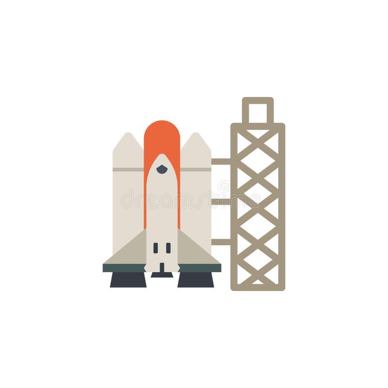 Διαστημικό σκάφος, χρωματισμένο πύραυλος εικονίδιο Στοιχείο της διαστημικής απεικόνισης Το εικονίδιο σημαδιών και συμβόλων μπορεί απεικόνιση αποθεμάτων
