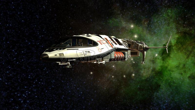 Διαστημικό σκάφος διανυσματική απεικόνιση
