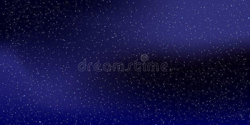 Διαστημικό υπόβαθρο αστεριών Διανυσματική απεικόνιση του νυχτερινού ουρανού 10 eps στοκ εικόνες