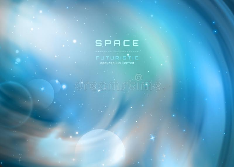 Διαστημικό υπόβαθρο γαλαξιών με το γαλακτώδες νεφέλωμα τρόπων, τη αίσθηση μαγείας και τα φωτεινά λάμποντας αστέρια φυσικό διανυσμ ελεύθερη απεικόνιση δικαιώματος