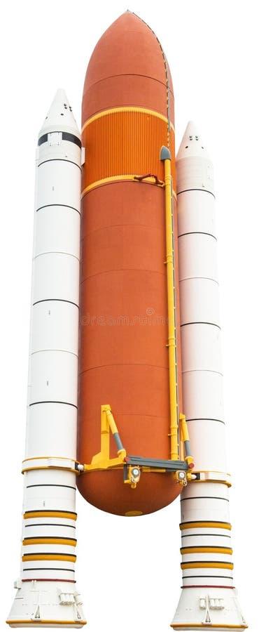 Διαστημικών λεωφορείων πύραυλος, που απομονώνεται συμπληρωματικός στοκ εικόνες με δικαίωμα ελεύθερης χρήσης