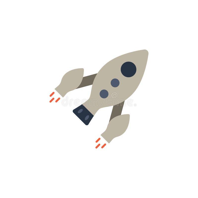 Διαστημόπλοιο, χρωματισμένο έναρξη εικονίδιο πυραύλων Στοιχείο της διαστημικής απεικόνισης Το εικονίδιο σημαδιών και συμβόλων μπο ελεύθερη απεικόνιση δικαιώματος