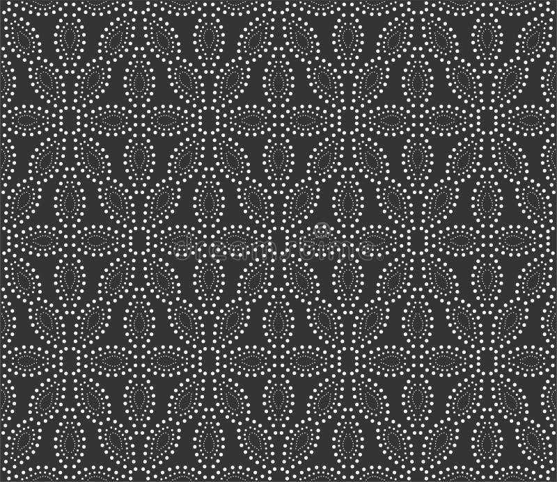 Διαστιγμένη απεικόνιση υποβάθρου σχεδίων λουλουδιών στο μαύρο μόριο ν ελεύθερη απεικόνιση δικαιώματος