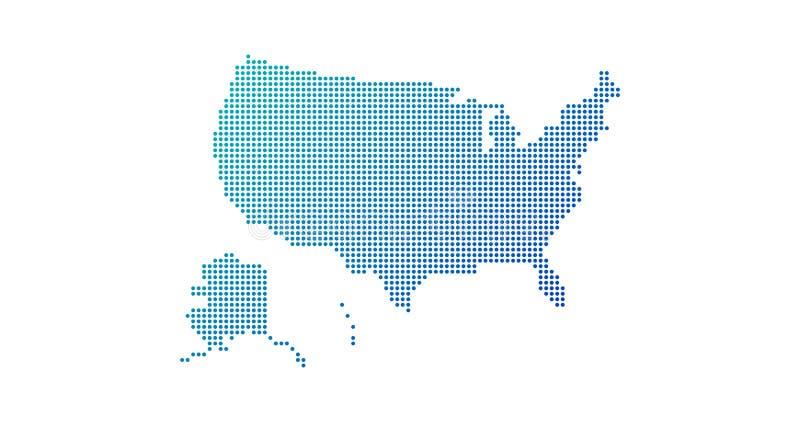 Διαστιγμένος ΑΜΕΡΙΚΑΝΙΚΟΣ χάρτης κλίσης για τα υπόβαθρα, Ιστός φυλλάδιων r απεικόνιση αποθεμάτων