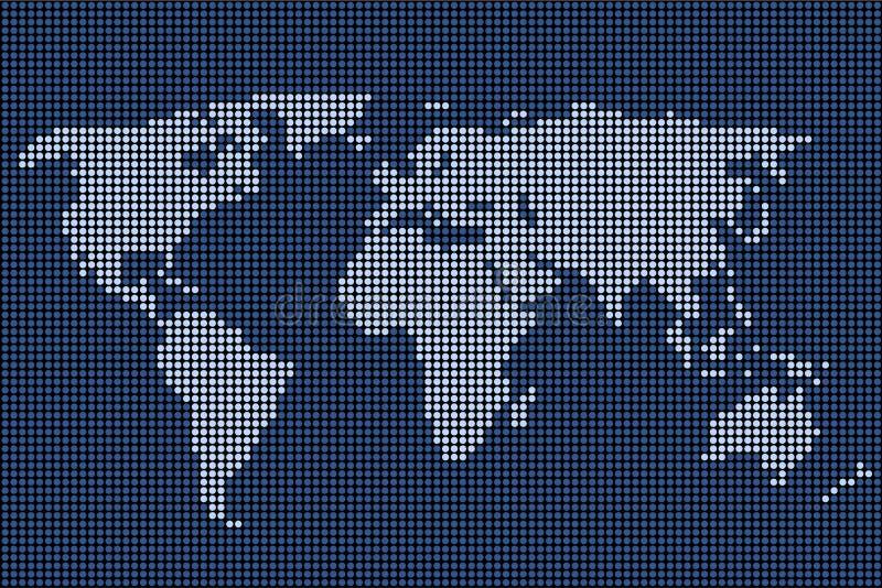 διαστιγμένος κόσμος χαρτών διανυσματική απεικόνιση