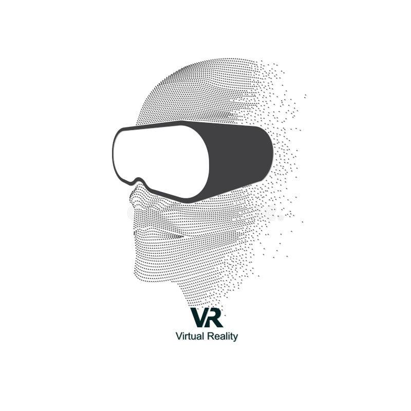 Διαστιγμένο επικεφαλής VR ελεύθερη απεικόνιση δικαιώματος